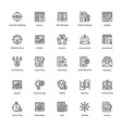 business and finance line icons 9 vector image
