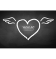 Chalk drawn heart vector image