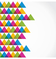 Colorful triangle background vector image