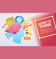 education online learning web banner vector image