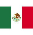 flag mexico flat icon vector image