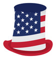 isolated american hat vector image