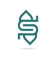 Logo letter S good design vector image