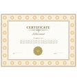red certificate vector image