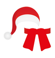 scarf and hat of Santa Claus vector image