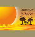 summer vacation in a beautiful sunny beach vector image