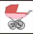 the buggy or carriage for baby vector image