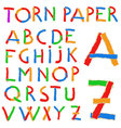 Torn paper and cardboard ABC vector image