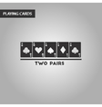 black and white style two pairs vector image