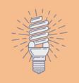 efficient energy saving fluorescent light vector image