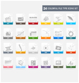 Design elements file type icons set vector image