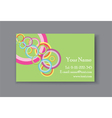 business card with circles vector image