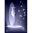 evening glass vector image