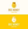 Logo bee honey vector image