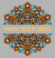 a beautiful leaflet with a mandala pattern and a vector image