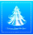 Abstract blue christmas tree background vector image