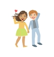 Boy And Girl In Love Walking Together vector image