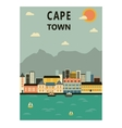 Cape Town South Africa vector image
