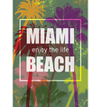 Color Tropical Background Exotic Banner with Palm vector image