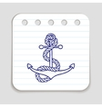 Doodle Anchor icon vector image