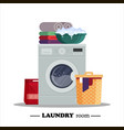 laundry room with washing machine powder basket vector image