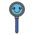 search magnifying glass kawaii character vector image