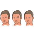 Three Facial Expressions vector image