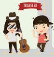 traveler vector image