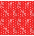 lace deers pattern vector image vector image
