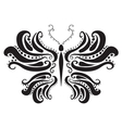 abstract silhouette of a butterfly vector image