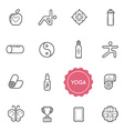 Set of Yoga Elements can be used as Logo or Icon vector image