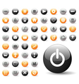 glossy icon set for web applications vector image vector image