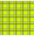 Green checkered cloth vector image