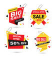 big sale banners set special offer template tags vector image