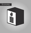 black and white style icon safe vector image