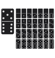 collection of domino set with black spot vector image