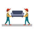 Delivery Man with Sofa vector image