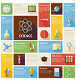 Flat Design Icons Infographic Science and vector image