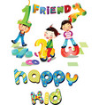 happy kids vector image