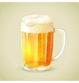 Mug of beer emblem vector image