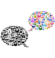 people icons in speech bubble vector image