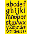 Small letters of the alphabet vector image
