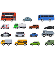 collection of car cartoon vector image