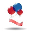 Color balloons with label vector image