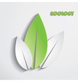 Modern abstract green leaves background vector image