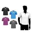 T-shirts male polo set vector image vector image