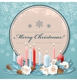 Christmas postcard with candles vector image