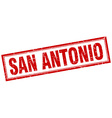 San Antonio red square grunge stamp on white vector image