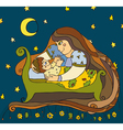 Mother Son Night vector image
