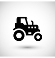 Agricultural tractor icon vector image